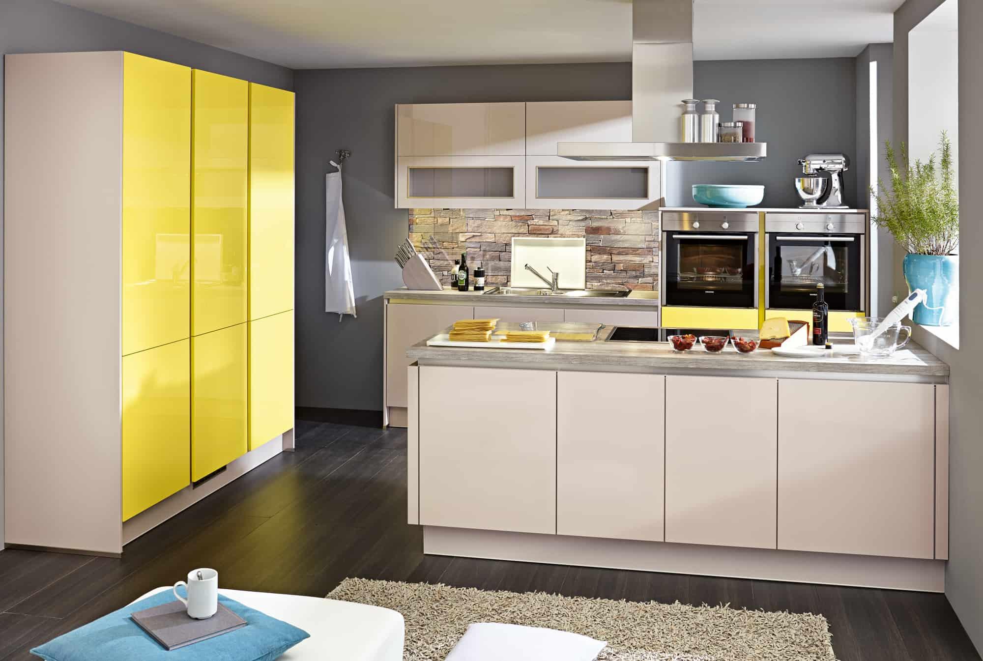 Küchen in gelb / beige - Lieblingsküchen Rostock - wo Sie ihre